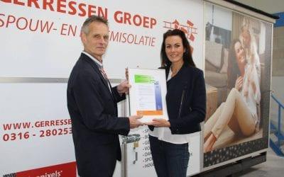 SKG-IKOB KOMO Procescertificaat Spouwmuurisolatie Gerressen Groep